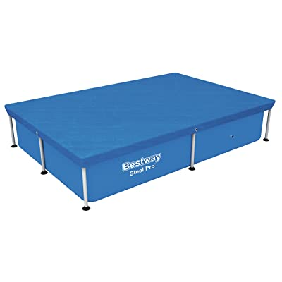 """Bestway Flowclear 7'4"""" x 60"""" Floating Rectangle Above Ground Swimming Pool Cover: Sports & Outdoors"""