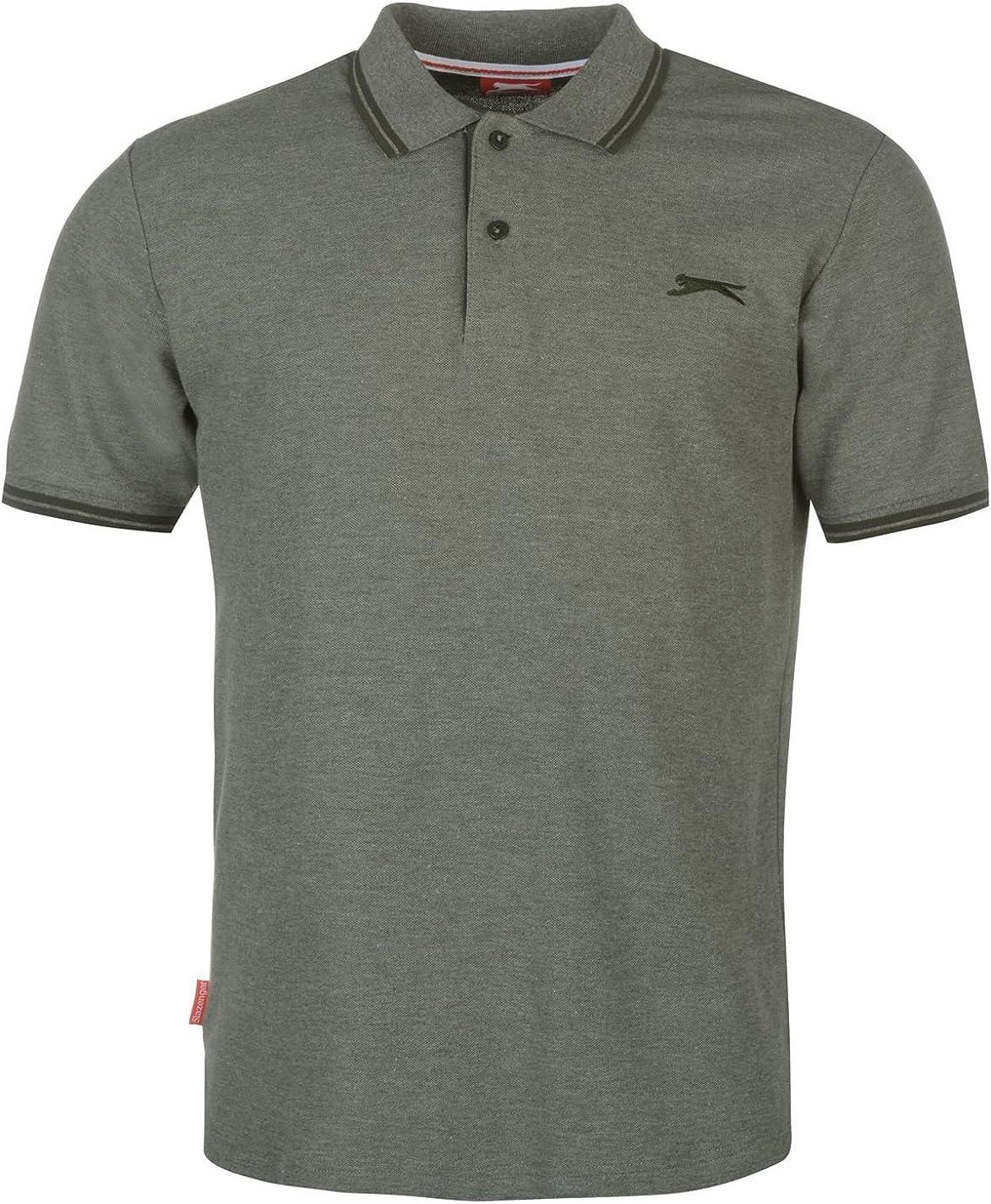 Slazenger Uomo Camicia Tipped Polo