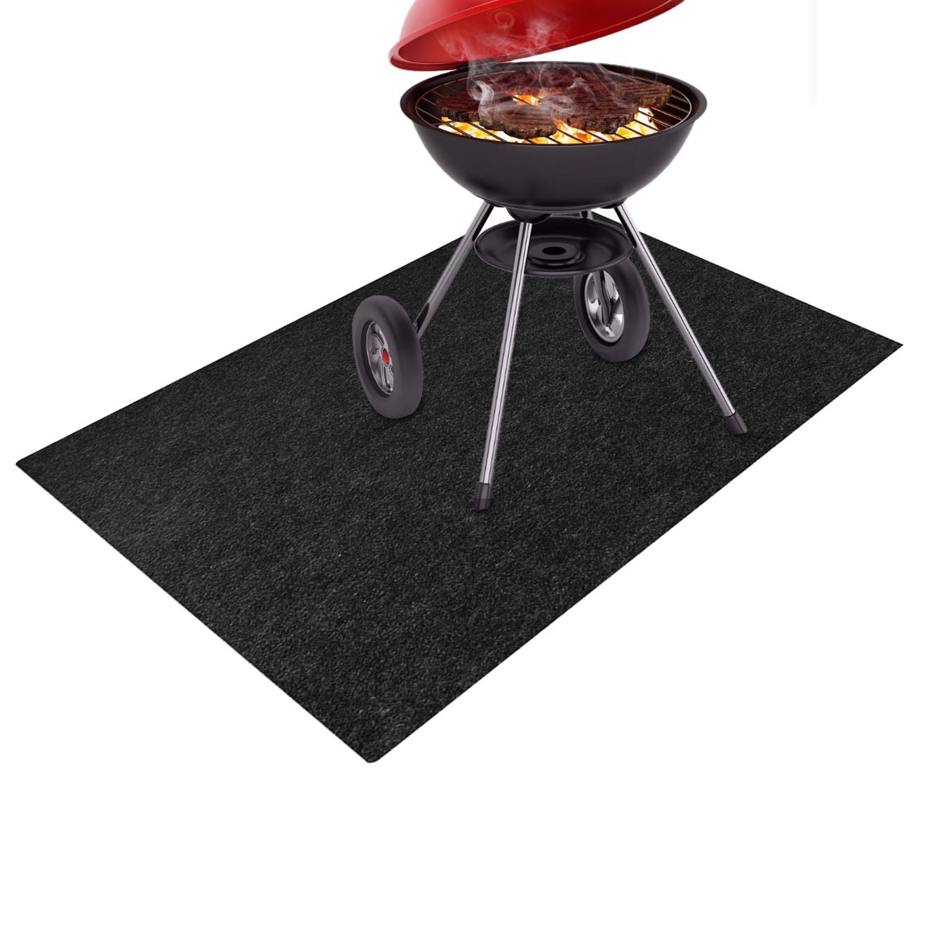 Together-life Gas Grill Splatter Mat, Fireproof Heat Resistant Non Stick BBQ Patio Protector Grilling Gear, Backyard Floor Protective Rug (72'' x 36'') by Together-life