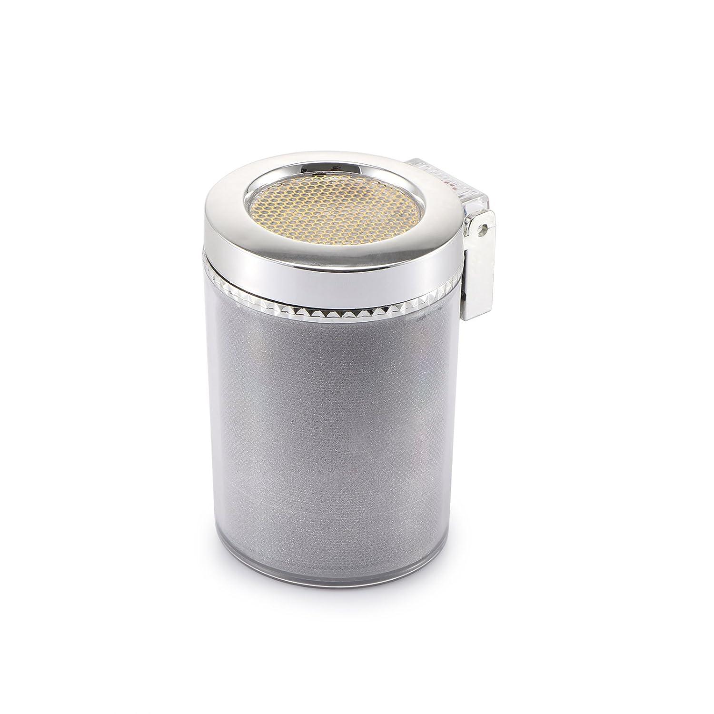 Cenicero para cigarrillos de autom/óvil Cenicero para cigarrillos de cilindro para portavasos y ventilaci/ón de aire para autom/óvil sin humo con cambio de color Luz y cubierta LED