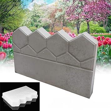 Bureze Molde de plástico para hormigón de jardín, diseño de ladrillo de Cemento: Amazon.es: Hogar