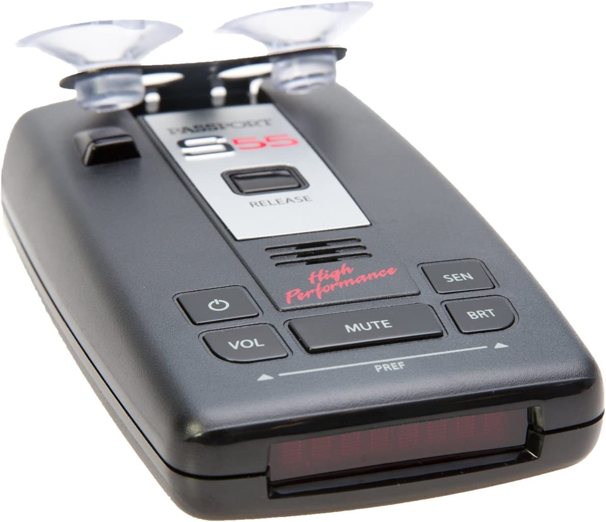 Escort Passport S55 Pro Radar and Laser Detector with DSP High-Intensity Red Display and Complete Mirror Mount Kit