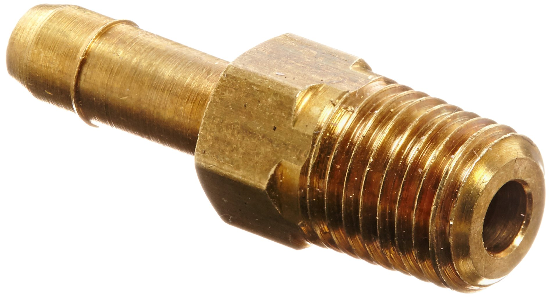 Eaton Weatherhead 1068X4X1 Brass CA360 Mini-Barb Brass Fitting, Adapter, 1/4'' Tube OD x 1/16'' NPT Male (Pack of 5)