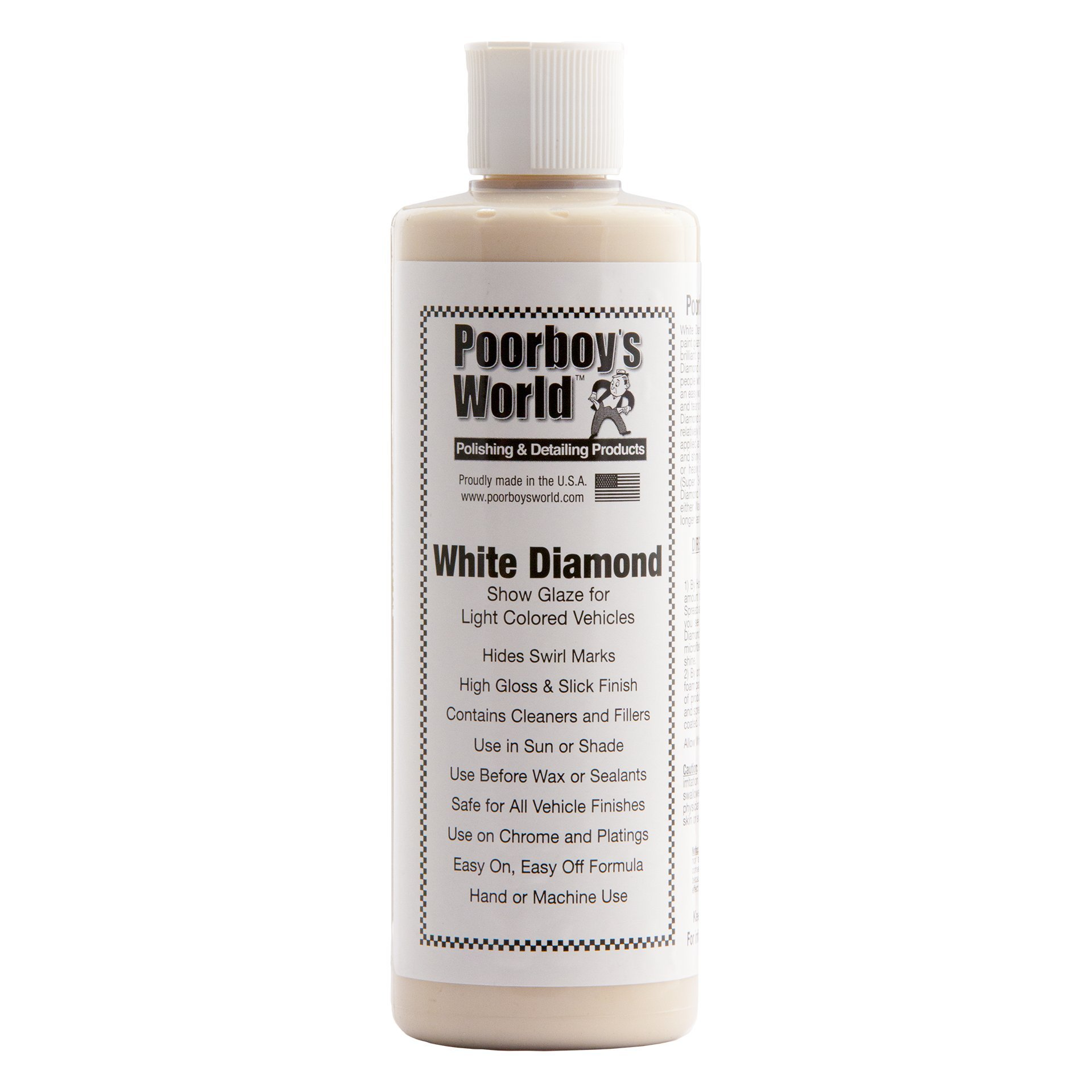 Poorboy's World White Diamond Car Shine 16oz