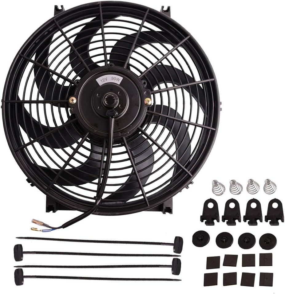 "2 × 14/""  Universal Electric Radiator COOLING Fan mounting kit new"