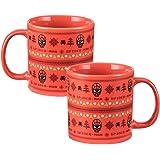 Vandor 26161 Marvel Spider-Man Ugly Sweater 20 Ounce Ceramic Mug, Red