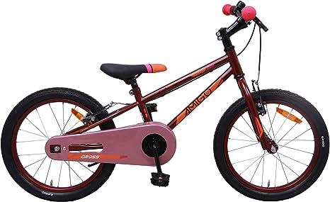 AMIGO Cross - Bicicleta infantil de 18 pulgadas, para niñas, con ...
