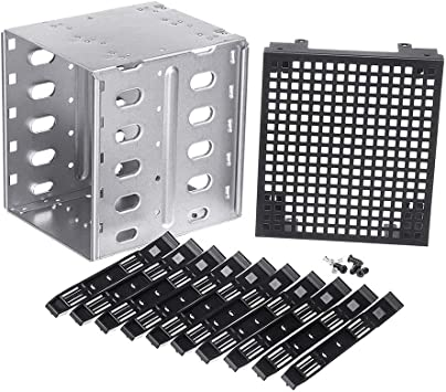 Large Capacity Stainless Steel HDD Cage Rack SAS SATA Tray Caddy for Computer