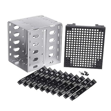 Caja para disco duro SATA SAS de 5,25 pulgadas a 5 x 3,5 pulgadas ...