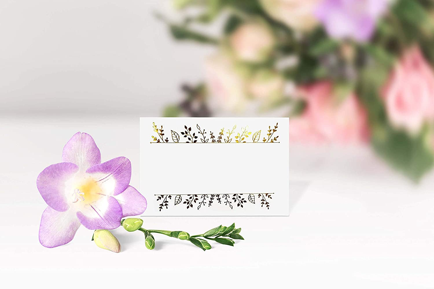 Banquets Large 2.5 x 3.75 inches Name Place Cards. Tented Table Seating Cards Perfect for Wedding and Any Event 100 Gold Foil Place Cards Party or Reception