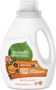 Seventh Generation Liquid Laundry Detergent, Fresh Citrus scent, 50 oz, 33 Loads (Packaging May Vary)