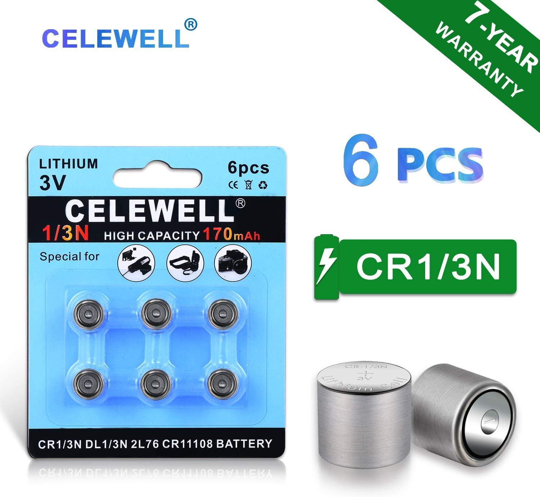 Baterias Celewell Dl1/3n 3v Litio 170mah Cr1/3n [6 Unidades]