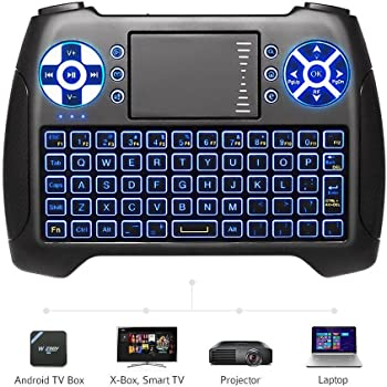 ANEWISH 2.4GHz Mini Wireless Keyboard with Touchpad Mouse Combo