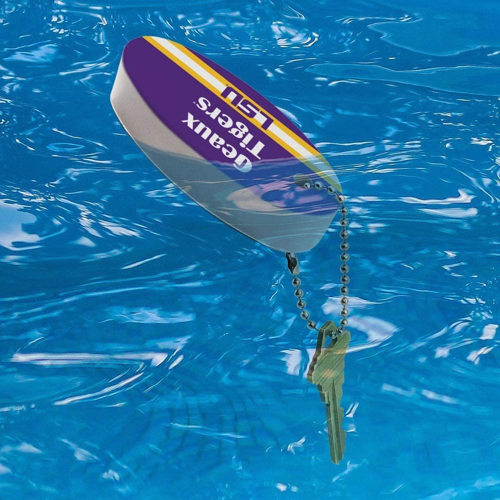 Graphics and More Geaux Tigers LSU Floating Keychain Oval Foam Fishing Boat Buoy Key Float