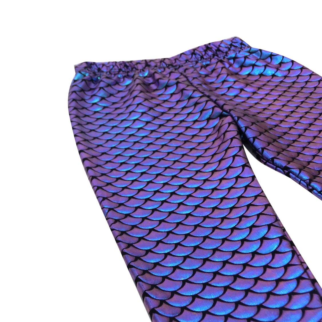 VIEWIM Toddler Baby Girls Clothes Mermaid Fish Stretch Long Leggings Pants 1-5 Years by VIEWIM (Image #2)