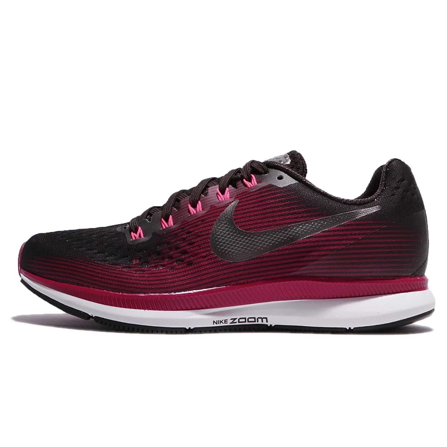 0f5c83d802b Nike Women s Air Zoom Pegasus 34 Running Shoe (Gem) Shadow Brown Metallic  Pewter Rush Maroon Size 9.5 M US  Amazon.in  Shoes   Handbags