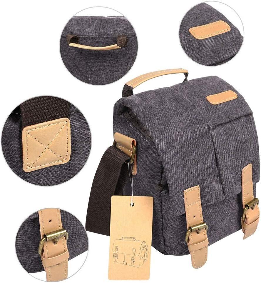 DMIZ Vintage Camera Backpack Water-Repellent Camera Bag for DSLR SLR Mirrorless Cameras /& Accessories Shockproof Camera Shoulder Messenger Bag