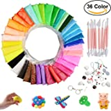 Modeling Ultra-light Clay, Hometall 36 Colors DIY Soft Magic Clay Craft Air Dry Plasticine with Tools, Best Christmas Gifts for Children. (10oz/Pack)