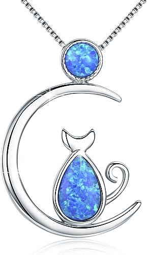 collier lune opale