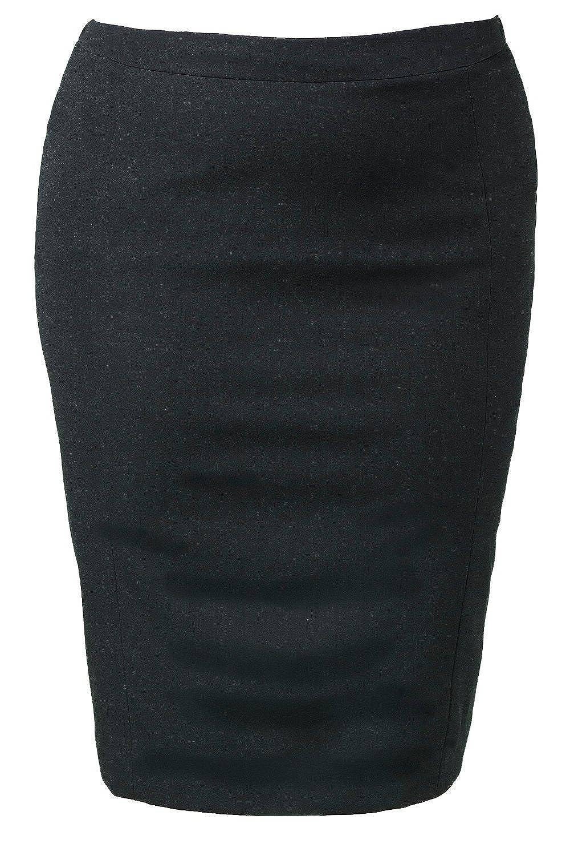 Ulla Popken Women's Plus Size Stretch Knit Skirt 696722