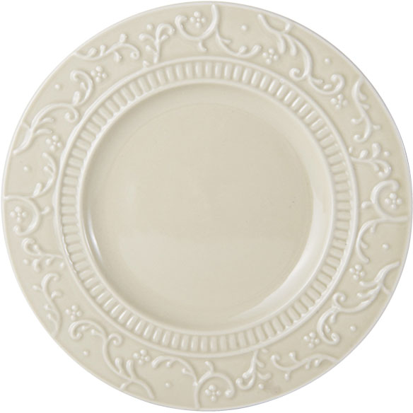 Italian Countryside Accents Scroll Beige Appetizer Plate online at Mikasa.com