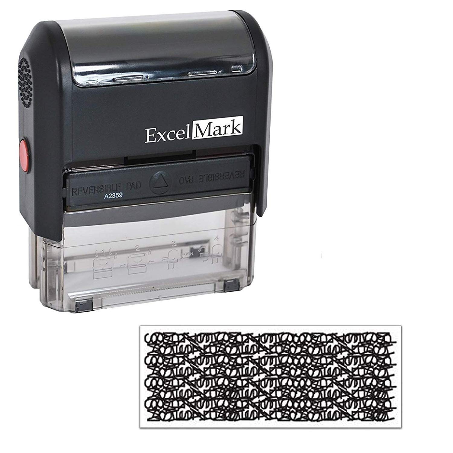 ExcelMark Identity Theft Protection Stamp - Standard Size (7/8 X 2-5/16) Discount Rubber Stamps