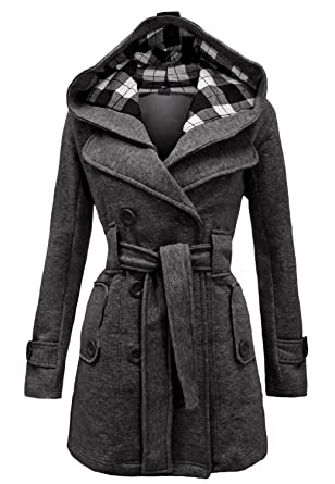 Amazon.com: Noroze Womens Check Hood Plus Size Duffle Coat: Clothing