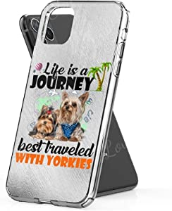 Best Traveled with Yorkies Dog Phone Cases for Apple iPhone 11 Pro Max - Premium Scratch-Resistant, Shockproof Protective Cute Creative Design - Apple iPhone 11 Pro Max Case