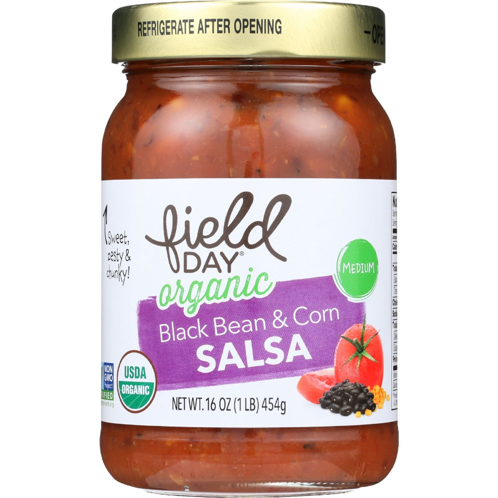 Field Day Salsa Organic Black Bean and Corn, 12 Count by Field Day (Image #1)