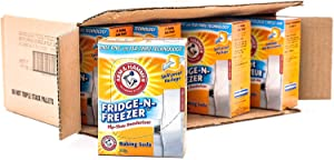 Arm & Hammer Baking Soda, Fridge-N-Freezer Pack, Odor Absorber, 17.6oz Pack, (case of 12)
