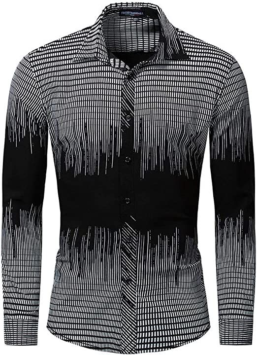 Yzibei Camisa de Hombre Camisa a Cuadros de Manga Larga de algodón Elástica Camisa elástica Ropa de Hombre Camisa Entallada Casual Caballero (Color : Negro, tamaño : XXL): Amazon.es: Hogar