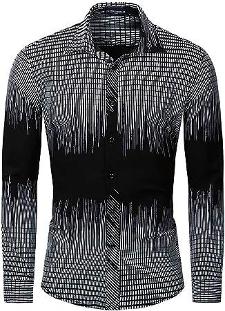 Weentop Camisa a Cuadros de Manga Larga de algodón Elástica Camisa elástica Ropa de Hombre (Color : Negro, tamaño : XXL): Amazon.es: Hogar