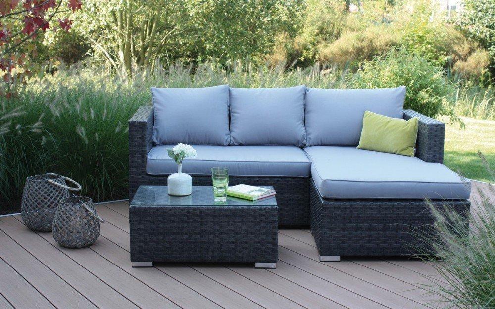 Amazon.de: Loungegarnitur Gartenmöbel-Set Aluminiumgestell ...