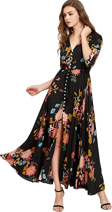 the long and flowery dress
