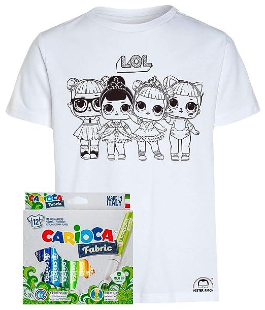 Mister Patch Idea Regalo Per Bambini Maglietta T Shirt Da Colorare
