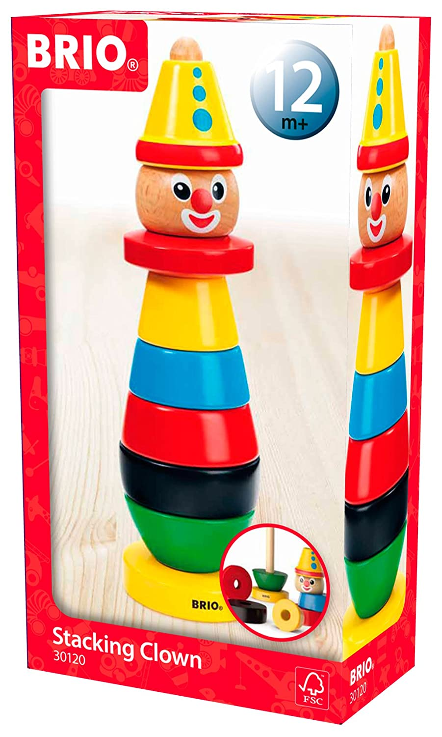 BRIO Infant   Toddler - Stacking Clown  Amazon.co.uk  Toys   Games 20582baccc45