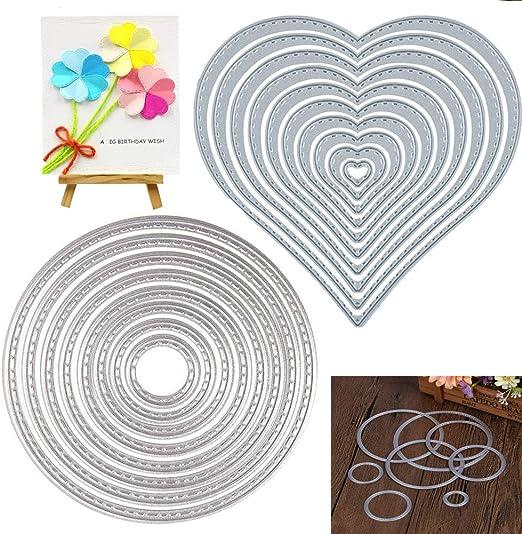 4x Heart Cutting Dies Stencil DIY Scrapbook Embossing Album Paper Card Craft