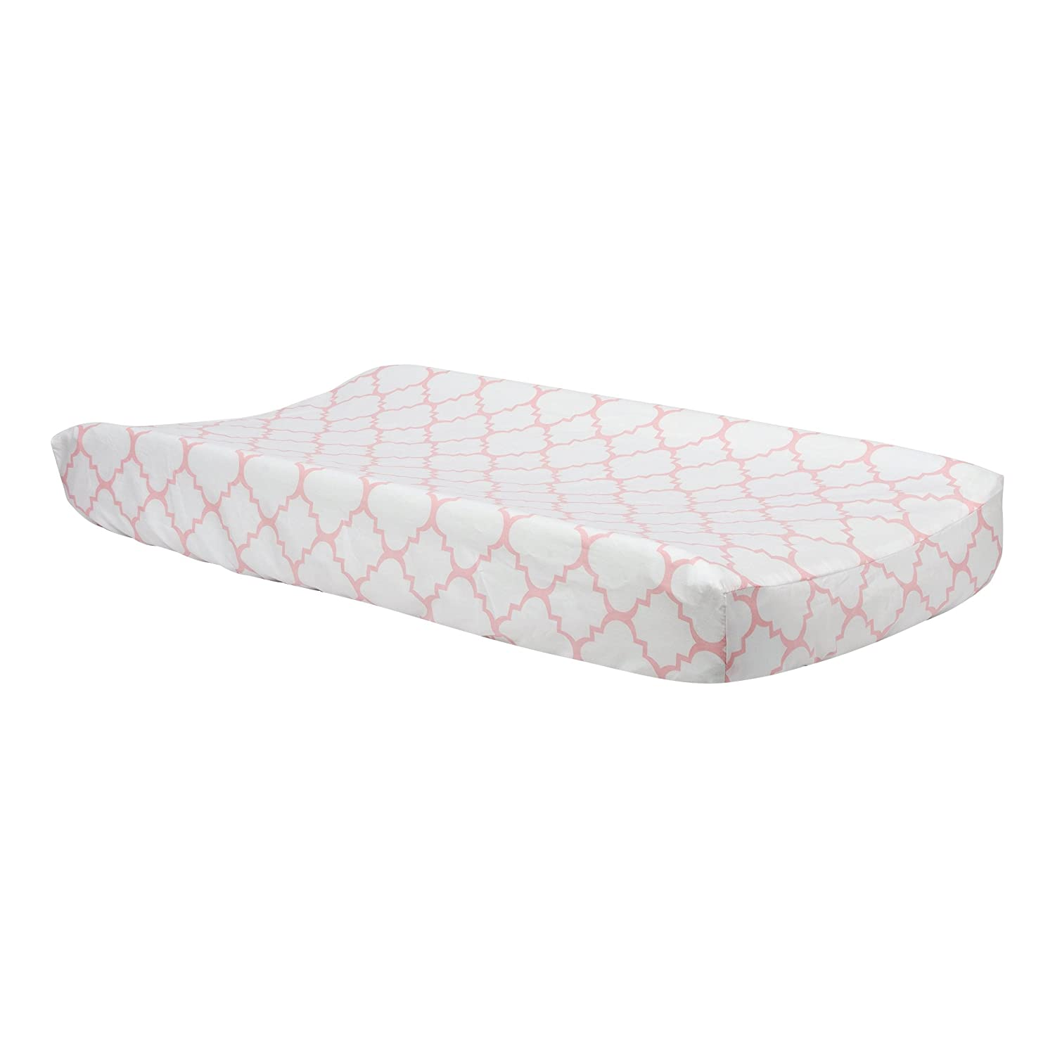 Trend Lab Pink Sky Quatrefoil Changing Pad Cover 100792