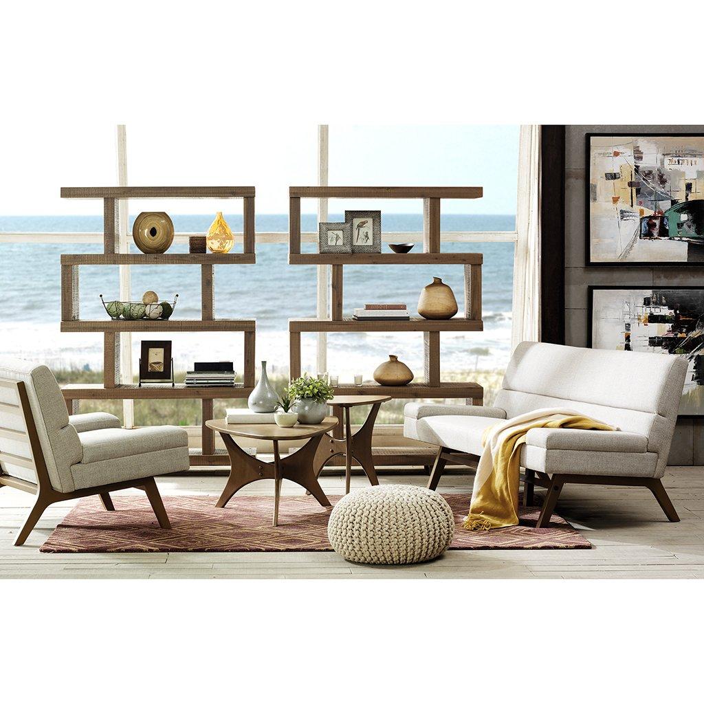 amazon com triangle wood coffee table brown blaze kitchen dining
