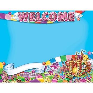Amazon.com: Eureka Candy Land Bienvenido Cartel: Toys & Games