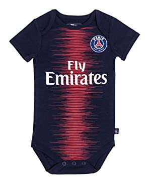PARIS SAINT GERMAIN Body bébé Maillot Domicile PSG - Collection Officielle  Bébé garçon 3 Mois 3ec81efb46a