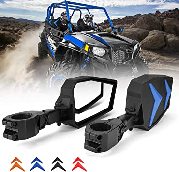 RZR Side Mirrors black red orange blue and Grab Handle for Polaris RZR 900 1000
