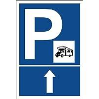 Melis Folienwerkstatt Cartel–Caravana Flecha geradeaus aparcar–Cartel de Aparcamiento