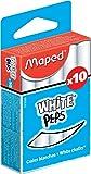 Maped M593500 - Tizas, pack de 10 unidades, color blanco