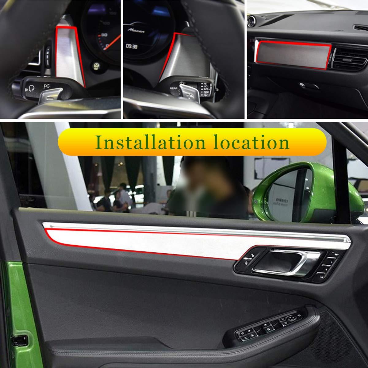 Set da 7 pezzi in fibra di carbonio per console centrale dell/'auto per MACAN 2018 2019 decorazione per interni della portiera
