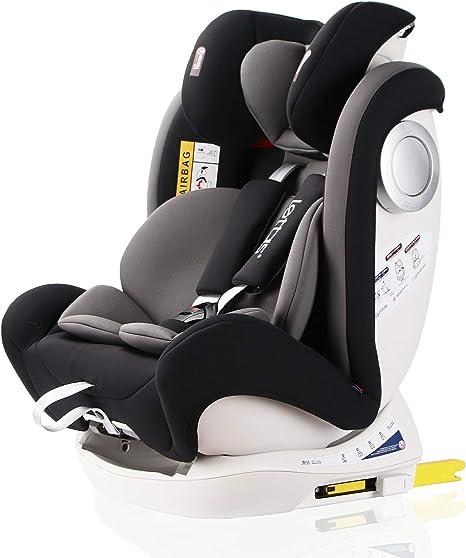 LETTAS Silla de coche Isofix grupo 0+1/2/3 (0-36 kg, desde los 0 meses hasta los 12 años) ECE R44/04: Amazon.es: Bebé