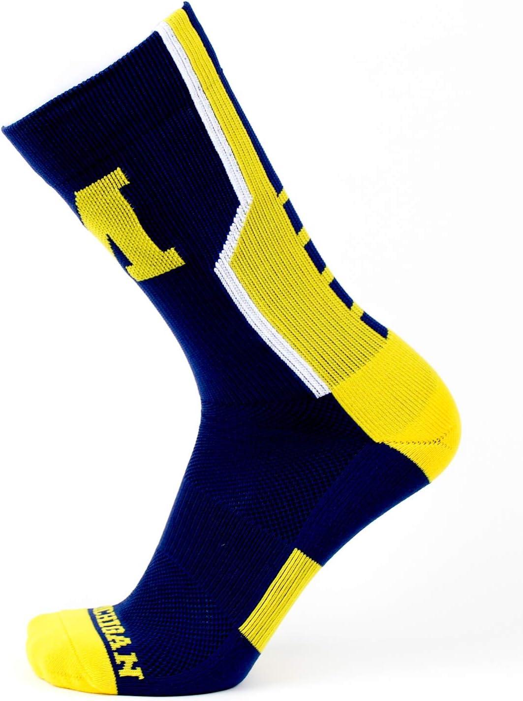 One Size NCAA Michigan Wolverines Sport Socks Blue