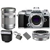 Olympus OM-D E-M5 Mark III Mirrorless Digital Camera Body (Silver) + M.Zuiko Digital ED 14-42mm f/3.5-5.6 EZ Lens…