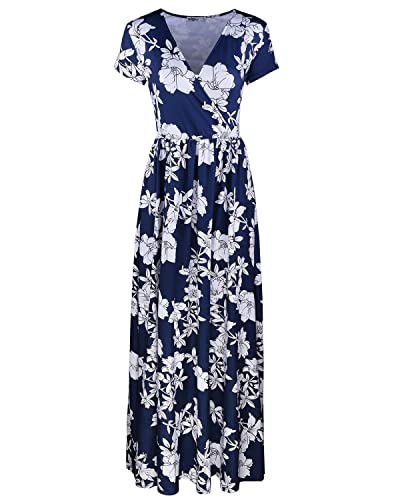 Styleword Women's Summer V neck Floral Maxi Long Dress£¨