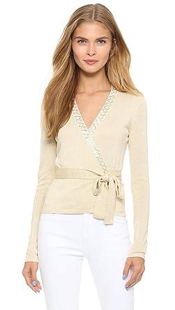23728c5c0d3 Amazon.com  Diane von Furstenberg Women s Embellished Ballerina Wrap Sweater